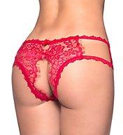 Oh La La Cheri Crotchless Eyelash Lace Boyshort Panty 10314