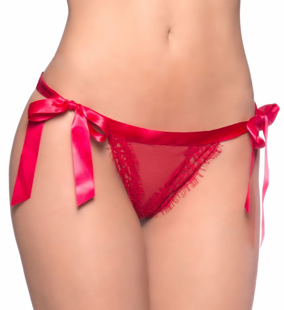 Oh La La Cheri Satin Tie Open Back Panty 10333