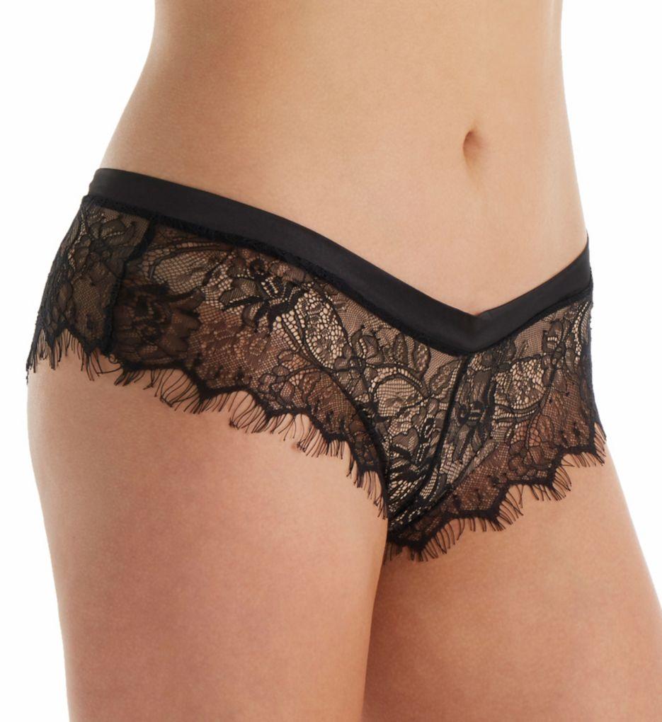 Oh La La Cheri Open Back Eyelash Lace Shorty Panty with Satin Tie 10378