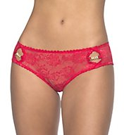 Oh La La Cheri Lace Crotchless Boyshort Panty with Keyholes 10421