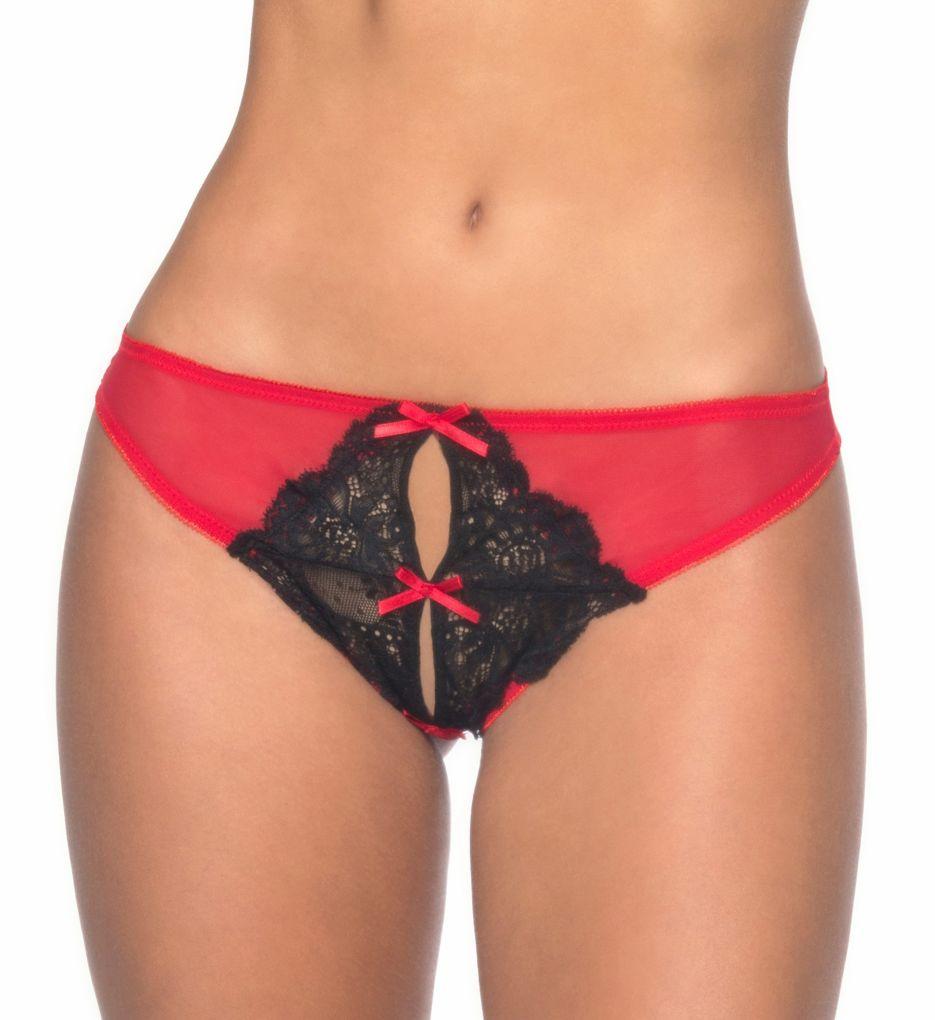 Oh La La Cheri Split Crotch Bow Panty 10426
