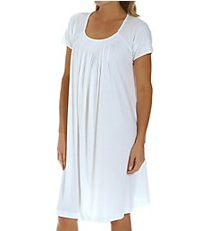 P-Jamas New Smocking Short Sleeve Gown Carlota2