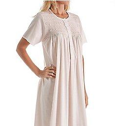 P-Jamas Ines Smocked Short Sleeve Nightgown Ines