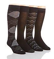 Perry Ellis Superior Soft Luxury Argyle Dress Socks - 4 Pack 434544