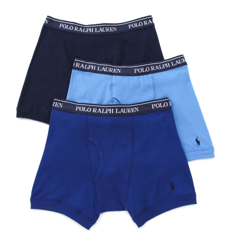 Polo Ralph Lauren Classic Fit 100% Cotton Boxer Briefs - 3 Pack LCBB