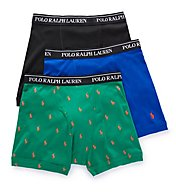 Polo Ralph Lauren Classic Fit 100% Cotton Boxer Briefs - 3 Pack LCBBH3