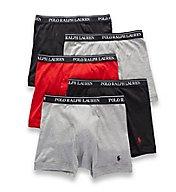 Polo Ralph Lauren Classic Fit 100% Cotton Boxer Briefs - 5 Pack LCBBP5