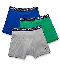 Polo Ralph Lauren Classic Fit 100% Cotton Boxer Briefs - 3 Pack LCBBS3