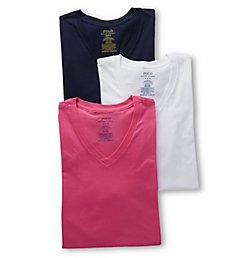 Polo Ralph Lauren Classic Fit 100% Cotton V-Neck Shirts - 3 Pack LCVNS3