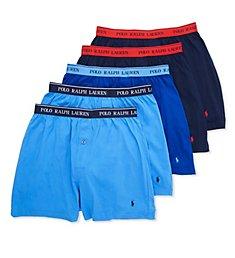Polo Ralph Lauren Classic Fit 100% Cotton Knit Boxers - 5 Pack RCKBP5
