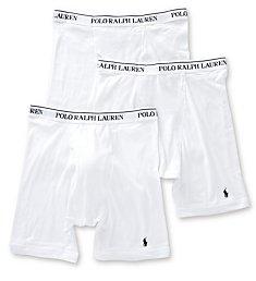 Polo Ralph Lauren Classic Fit Cotton Long Leg Boxer Brief - 3 Pack RCLBP3