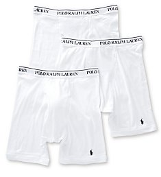 Polo Ralph Lauren Classic Fit Cotton Long Leg Boxer Brief - 3 Pack RCLBP3
