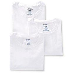 Polo Ralph Lauren Slim Fit 100% Cotton Crew T-Shirts - 3 Pack RSCNP3