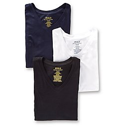 Polo Ralph Lauren Slim Fit 100% Cotton V Neck T-Shirts - 3 Pack RSVNP3
