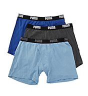 Puma Performance 100% Cotton Boxer Briefs - 3 Pack PMCBB-F