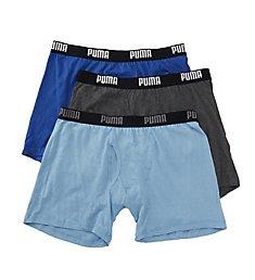 Puma Performance 100% Cotton Boxer Briefs - 3 Pack PMCBB-F