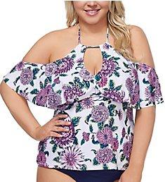 Raisins Curve Plus Size Wild Romance Shea Tankini Swim Top D840620