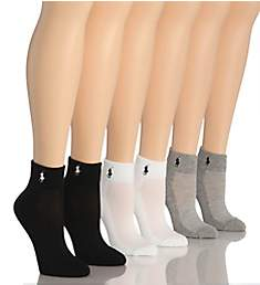 Ralph Lauren RL Sport Quarter Sock - 6 Pair Pack 7240000