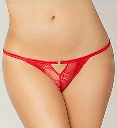 Seven 'til Midnight Lace Heart Open Crotch Panty 10836