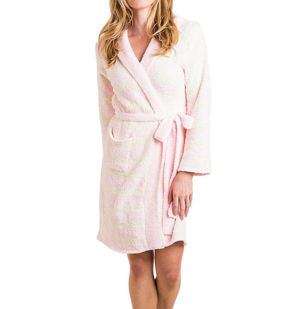 Softies by Paddi Murphy Striped Marshmallow Hoodie Robe 9300