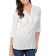 Splendid Long Sleeve Flap Pocket Shirting Tee ST5964