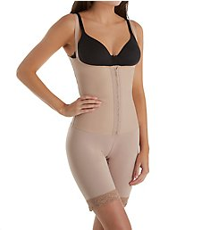 Squeem Sensual Curves Open Bust Mid Thigh Bodysuit 26SCN