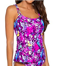 Sunsets Evening Blooms Taylor Tankini Swim Top 75EB