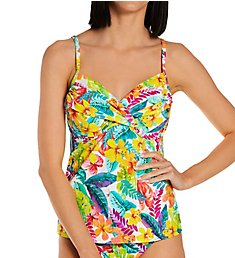 Sunsets Tropical Adventure Crossroads Tankini Swim Top 79TA