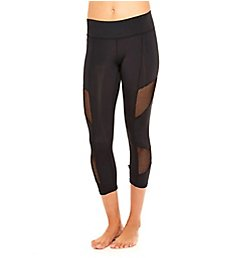 Terez Fishnet Tall Band Crop Ankle Legging 495-02