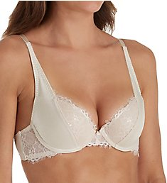 The Little Bra Company Mercedes Eyelash Lace Petite Demi Push Up Bra E009E