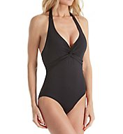 Tommy Bahama Pearl Solids Halter Control One Piece Swimsuit TSW31027P