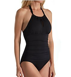 Tommy Bahama Pearl Solids High Neck Control One Piece Swimsuit TSW31030P