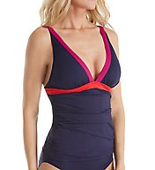 Tommy Bahama Novelty Solids V-Neck Tankini Swim Top TSW31204T