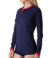 Tommy Bahama Novelty Solids Long Sleeve Quarter Zip Rash Guard TSW31212C