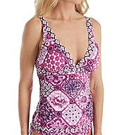 Tommy Bahama Tiles of Tropics V-Neck Tankini Swim Top TSW31407T