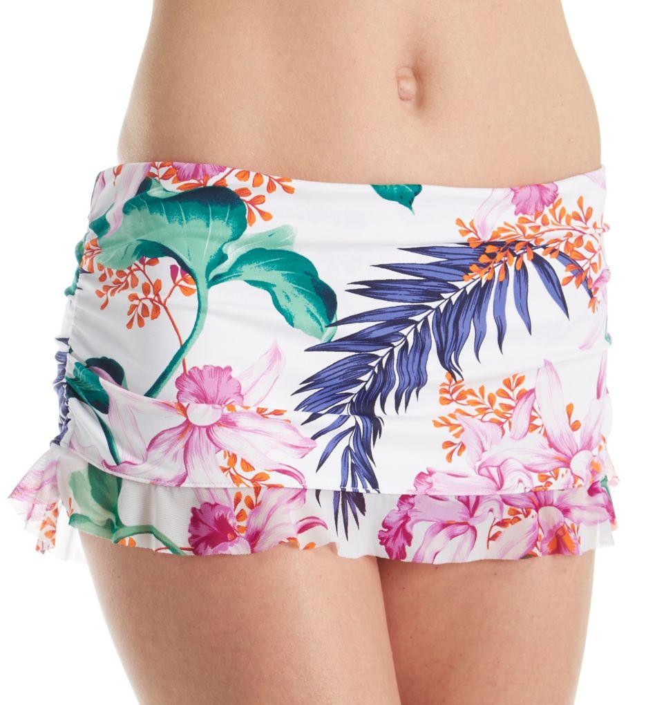 Tommy Bahama Orchid Canopy Ruffle Skirted Hipster Swim Bottom TSW31608B