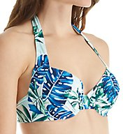 Tommy Bahama Fronds Floating Underwire Full Halter Swim Top TSW32602T