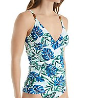 Tommy Bahama Fronds Floating V-Neck Tankini Swim Top TSW32622T