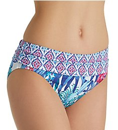 Tommy Bahama Majorelle Jardin High Waist Brief Swim Bottom TSW41409B