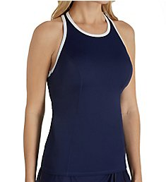 Tommy Bahama Island Active High Neck Racerback Tankini Swim Top TSW45316T
