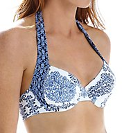 Tommy Bahama Stamped Medallion Underwire Halter Swim Top TSW51200T