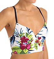 Tommy Bahama Happy Hibiscus Underwire Cross Back Swim Top TSW51401T