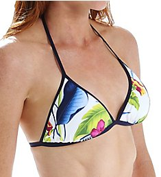 Tommy Bahama Happy Hibiscus Reversible Halter Triangle Swim Top TSW51402T