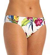 Tommy Bahama Happy Hibiscus Side Shirred Hipster Swim Bottom TSW51406B