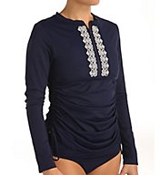 Tommy Bahama Embroidered Long Sleeve Adjustable Rash Guard TSW51722C
