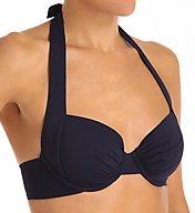 Tommy Bahama Pearl Solids Underwire Halter Swim Top TSW52201T