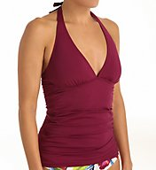 Tommy Bahama Pearl Solids Halter Long Tankini Swim Top TSW52214T