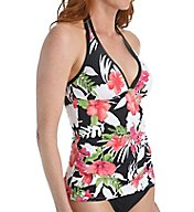 Tommy Bahama Victoria Blooms Long Halter Tankini Swim Top TSW52503T