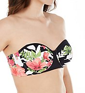 Tommy Bahama Victoria Blooms Underwire Strapless Swim Top TSW52505T