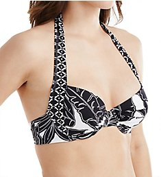 Tommy Bahama Graphic Leaf Full Coverage Underwire Swim Top TSW52601T